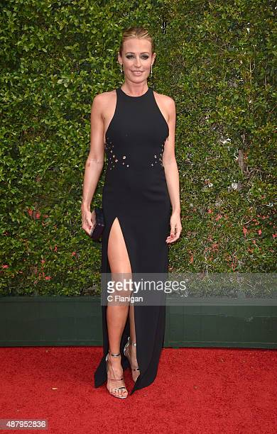 Cat Deeley attends the 2015 Creative Arts Emmy Awards at Microsoft Theater on September 12 2015 in Los Angeles California