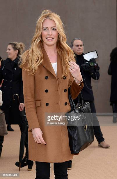 Cat Deeley attends the Burberry Prorsum show at London Fashion Week AW14 at Kensington Gardens on February 17 2014 in London England