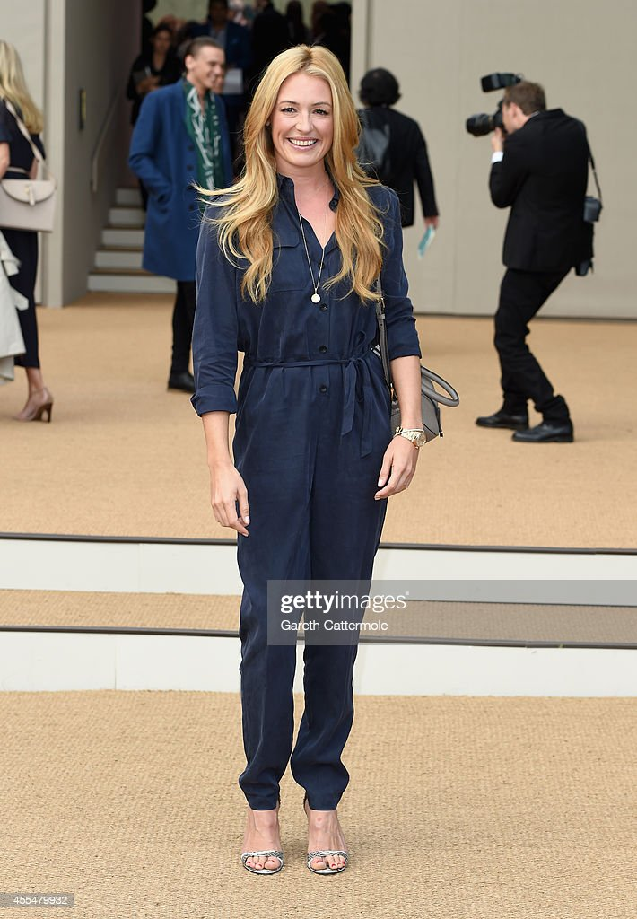 Cat Deeley attends the Burberry Womenswear SS15 show during London Fashion Week at Kensington Gardens on September 15, 2014 in London, England.