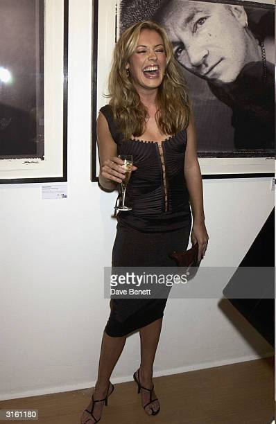 Cat Deeley attends the Helena Christensen 'Icons and Portraits' Photographic Exhibition at The Proud Gallery on September 5 2003 in London