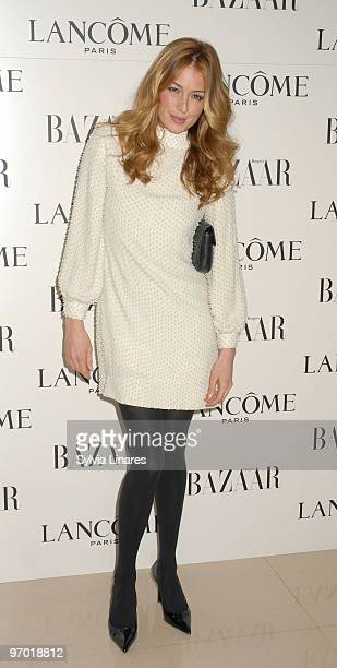 Cat Deeley attends the Lancome and Harper's Bazaar BAFTA party held at St Martins Lane Hotel on February 19 2010 in London England