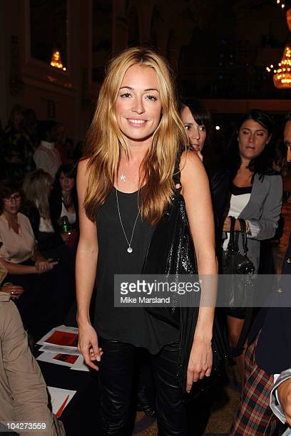 Cat Deeley attends the Vivienne Westwood Red Label S/S 2011 show at London Fashion Week at on September 19 2010 in London England
