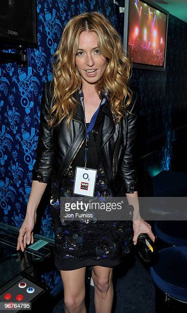 Cat Deeley attends the War Child party for The Brit Awards 2010 at Shepherds Bush Empire on February 16 2010 in London England