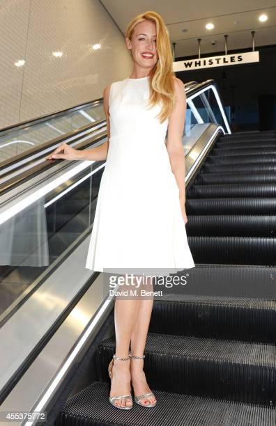 Cat Deeley attends the Whistles SS 2015 presentation during London Fashion Week at Kings Cross Tunnel on September 13 2014 in London England