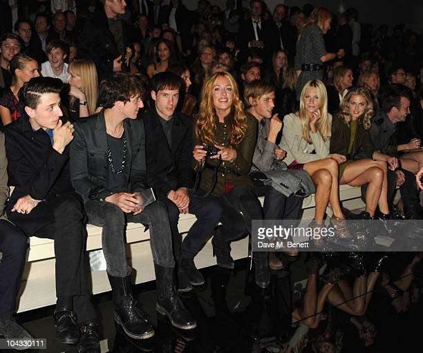 Cat Deeley Poppy Delevingne and Donna Air attend the Burberry Prorsum Spring/Summer 2011 fashion show during LFW at Chelsea College of Art and Design...