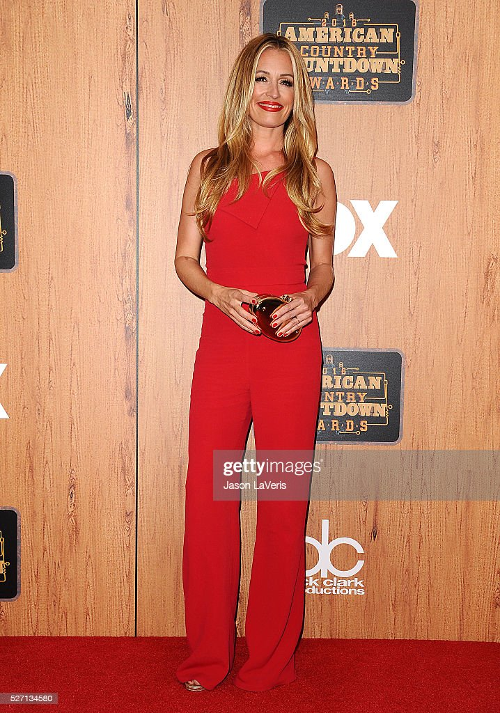 Cat Deeley poses in the press room at the 2016 American Country Countdown Awards at The Forum on May 01, 2016 in Inglewood, California.