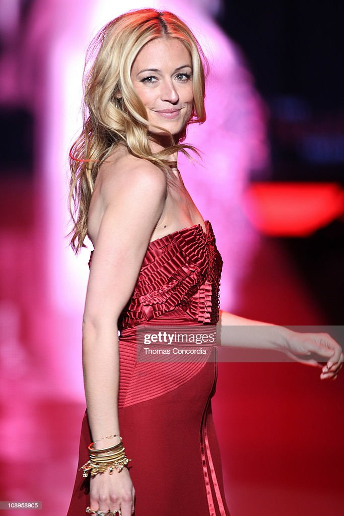 Cat Deeley wearing Alberta Ferretti at the The Heart Truth's Red Dress Collection fashion show during Mercedes-Benz Fashion Week Fall 2011 at Lincoln Center on February 9, 2011 in New York City.