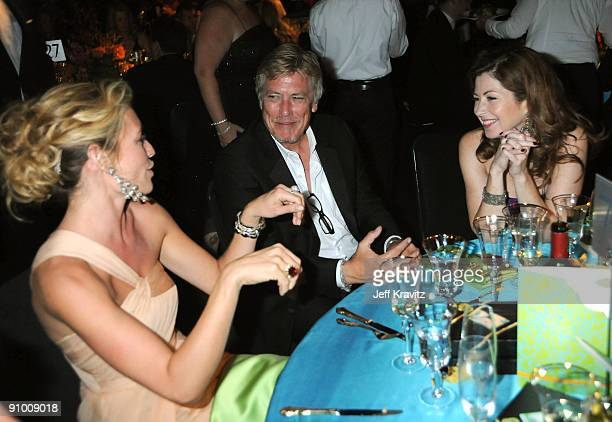 Cat Deely and actress Dana Delaney attends the Governors Ball for the 61st Primetime Emmy Awards held at the Los Angeles Convention Center on...