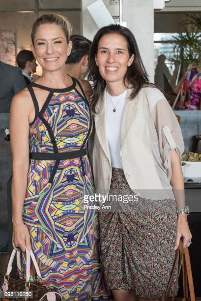 Cat Greenleaf and Marissa Greenleaf attend Special Women's Power Lunch Hosted by Tina Brown at Spring Place on June 19 2017 in New York City