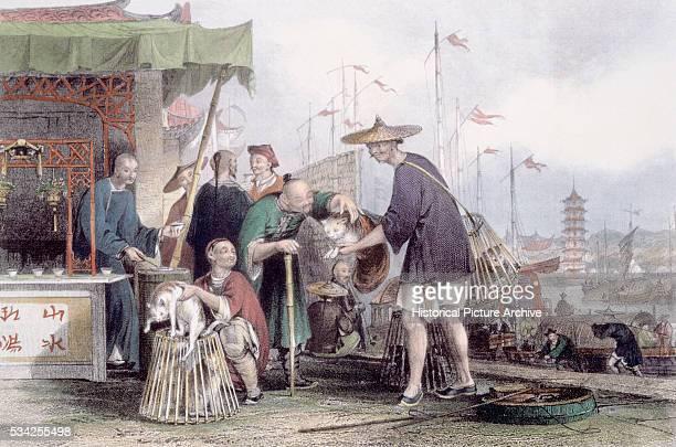 Cat Merchants and Tea Dealers by Thomas Allom