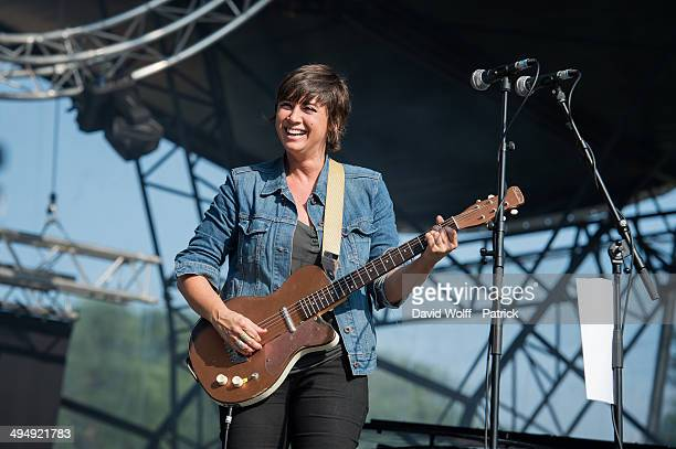 Cat Power performs at We Love Green Festival at Parc de Bagatelle on May 31 2014 in Paris France