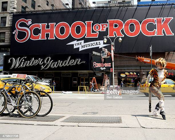 Cat reacts as SCHOOL OF ROCK takes over Broadway's Winter Garden Theatre at Winter Garden Theatre on July 7 2015 in New York City
