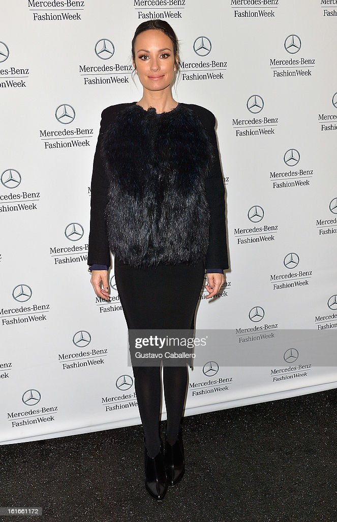 Cat Sadler is seen around Lincoln Center - Day 7 - Fall 2013 Mercedes-Benz Fashion Week at Lincoln Center for the Performing Arts on February 13, 2013 in New York City.