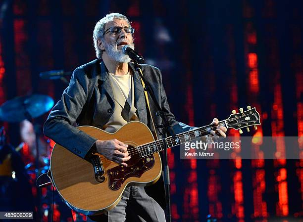 Cat Stevens performs onstage at the 29th Annual Rock And Roll Hall Of Fame Induction Ceremony at Barclays Center of Brooklyn on April 10 2014 in New...