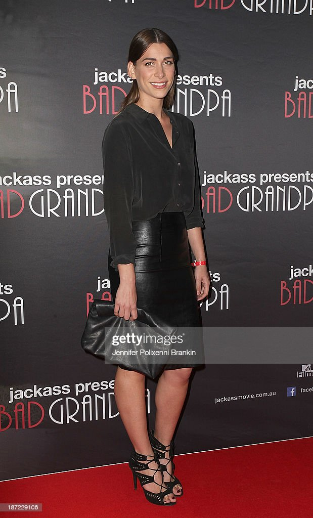 Cat Vas from X Factor attends theAustralian premiere of 'Jackass Presents: Bad Grandpa' at Event Cinemas, George Street on November 7, 2013 in Sydney, Australia.