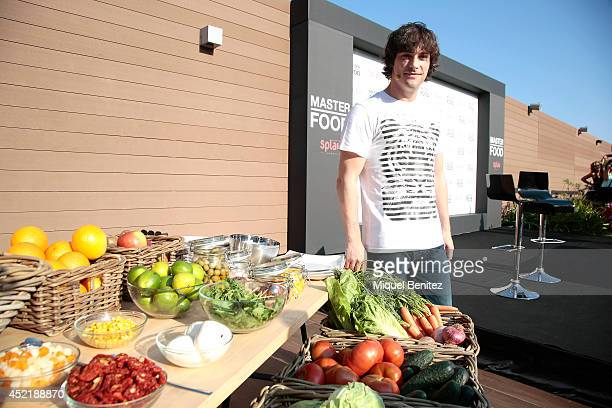 Catalan chef Jordi Cruz attends the opening of gastronomic Splau season at on July 15 2014 in Barcelona Spain