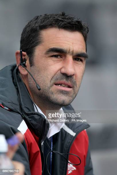 Catalan Dragons head coach Laurent Frayssinous during day two of the Betfred Super League Magic Weekend at St James' Park Newcastle
