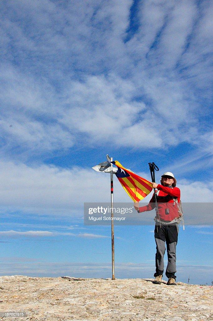 Catalan independence flag : Stock Photo