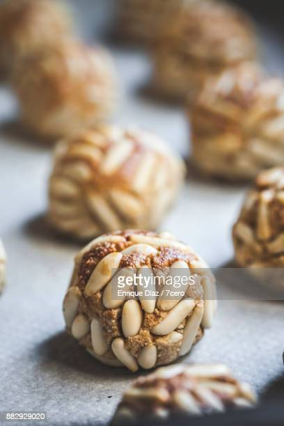 Catalan Panellets in a Row