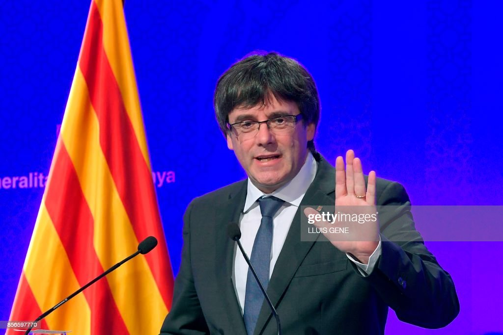 Catalan leader says region has 'won the right' to secede from Spain