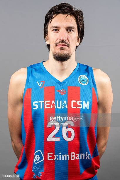 GARDA 'MIHAI VITEAZUL' BUCHAREST ROMANIA Catalin Baciu of Steaua CSM EximBank Bucharest during the official photo session of Steaua CSM EximBank...
