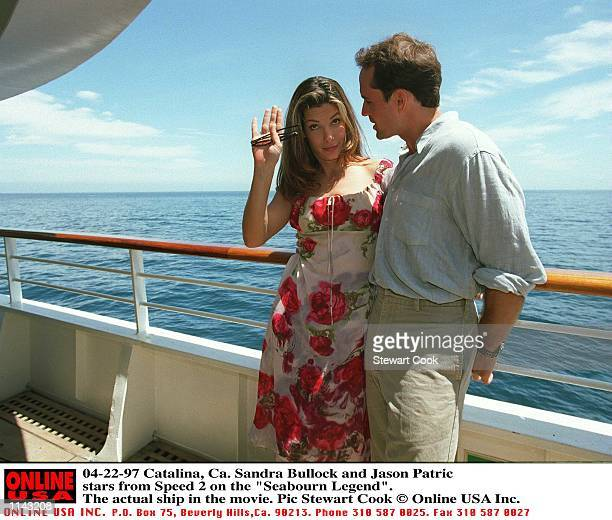 Catalina Ca Sandra Bullock and Jason Patric stars from the movie Speed 2 together on the 'Seabourn Legend' the actual ship used in the movie