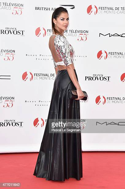 Catalina Denis arrives to attend the opening ceremony of the 55th Monte Carlo TV Festival on June 13 2015 in MonteCarlo Monaco