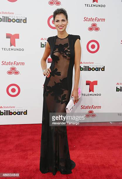 Catalina Dennis arrives at the 2014 Billboard Latin Music Awards at Bank United Center on April 24 2014 in Miami Florida