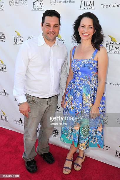 Catalina Film Festival Director Ron Truppa and actress Kristin Davis attend the Catalina Film Festival on September 27 2015 in Avalon California
