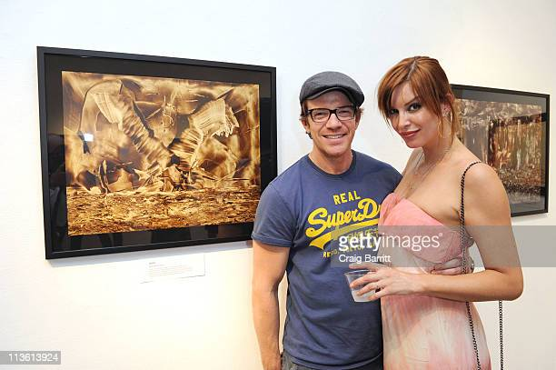 Catalina Guirado and Max Beesley attend Juan Antonio Guirado's 'Out Of Darkness Comes Light' Art Opening at Gallery eight two five on May 3 2011 in...