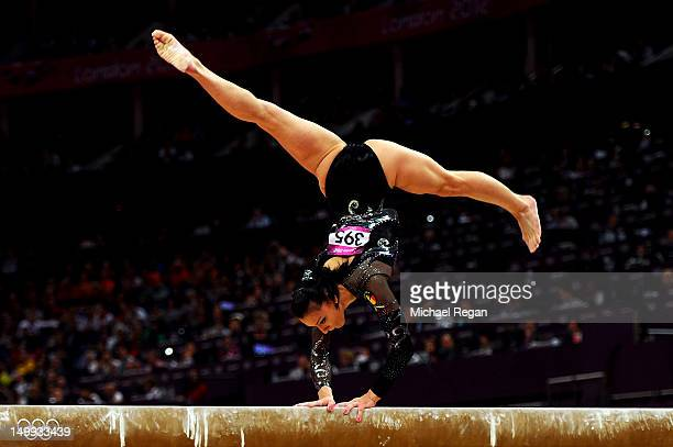 Catalina Ponor of Romania competes on the beam during the Artistic Gymnastics Women's Beam final on Day 11 of the London 2012 Olympic Games at North...