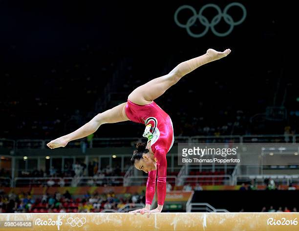 Catalina Ponor of Romania on the beam during the Women's qualification for Artistic Gymnastics on Day 2 of the Rio 2016 Olympic Games at the Rio...