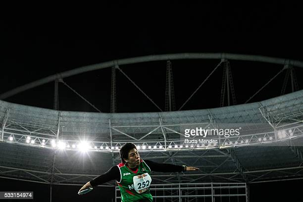 Catalina Rosales of Mexico competes the Women's Discus Throw F57 Final during the Paralympics Athletics Grand Prix Aquece Rio Test Event for the Rio...