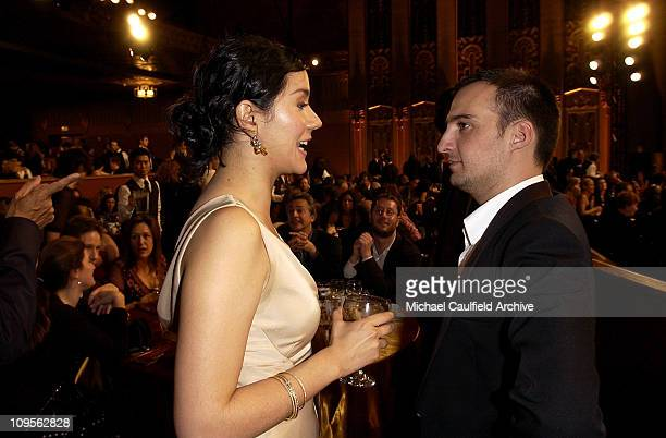 Catalina Sandino Moreno and Alejandro Amenabar during 10th Annual Critics' Choice Awards Backstage and Audience at Wiltern LG Theatre in Los Angeles...