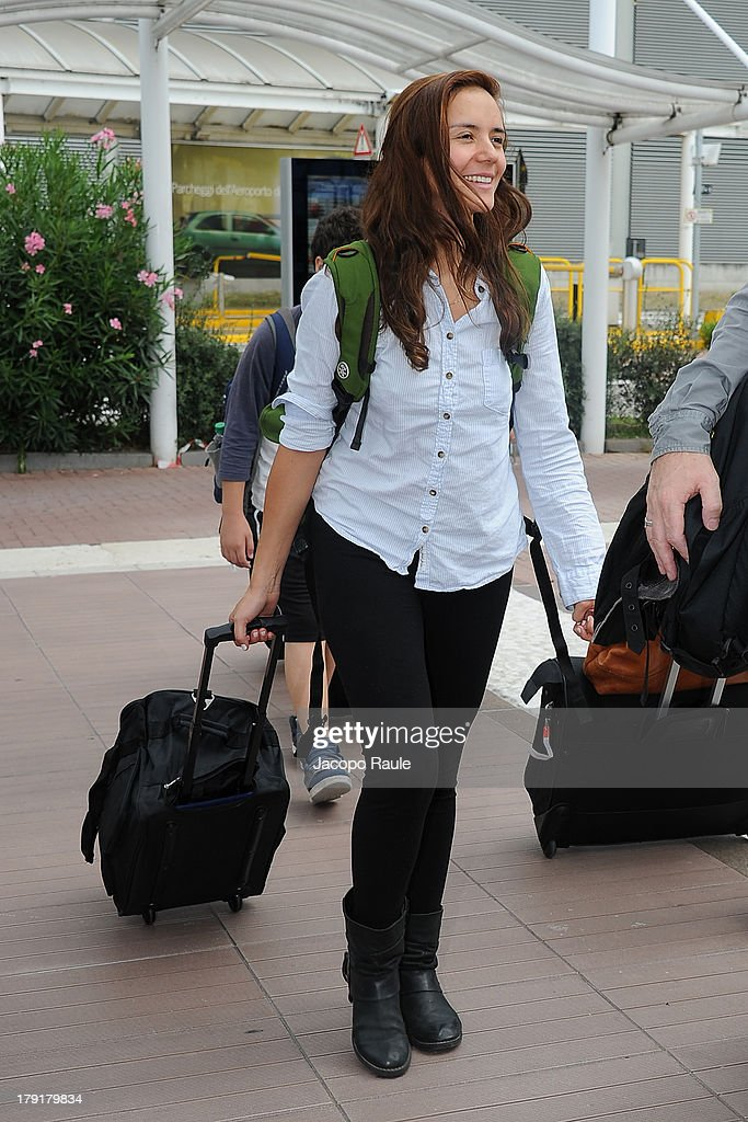 <a gi-track='captionPersonalityLinkClicked' href=/galleries/search?phrase=Catalina+Sandino+Moreno&family=editorial&specificpeople=202051 ng-click='$event.stopPropagation()'>Catalina Sandino Moreno</a> is seen arriving at Venice Airport during The 70th Venice International Film Festival on September 1, 2013 in Venice, Italy.