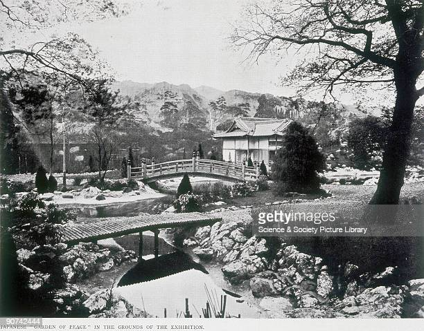 Catalogue illustration This garden with its canvas screen backdrop was constructed at the JapanBritish Exhibition of 1910 held at White City in...