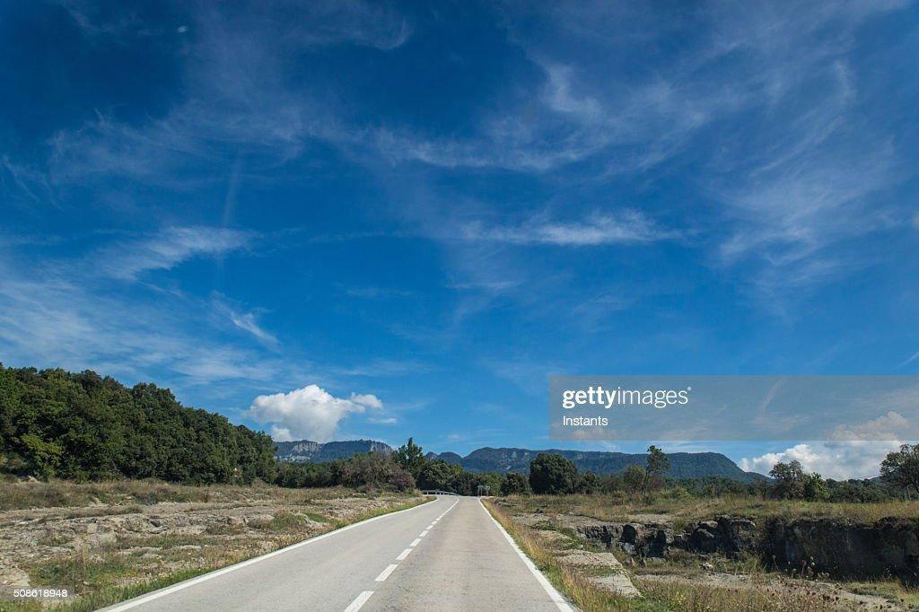 Catalonia C-17 road : Stock Photo