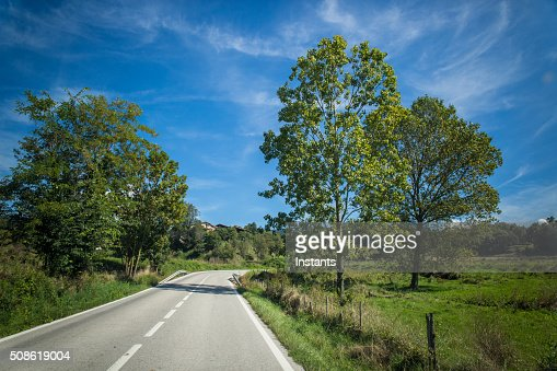 Catalonia C-17 road : Stock Photo