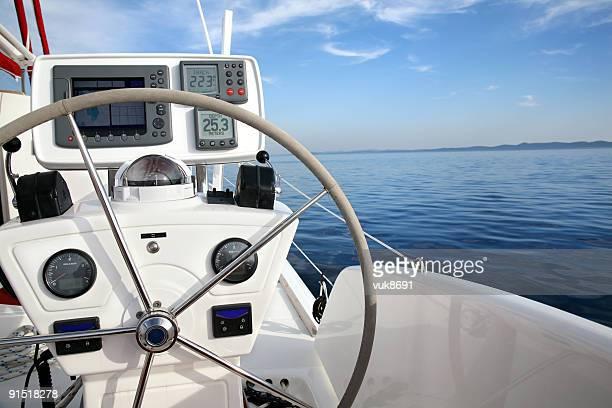 Catamaran à voile de détails en Croatie