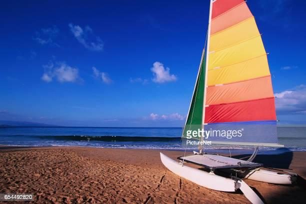 Catamaran on Beach
