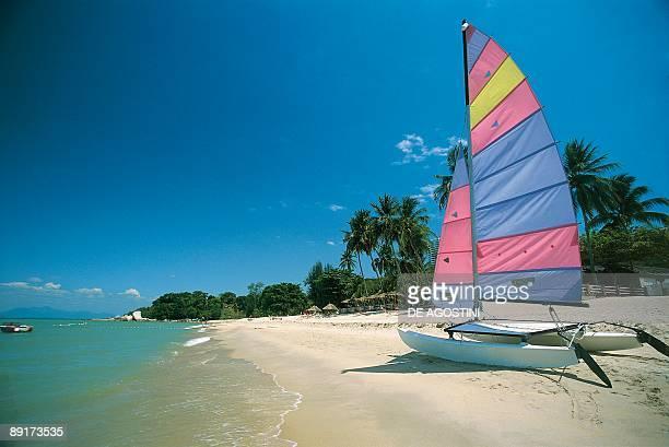 Catamaran on the beach George Town Penang Malaysia