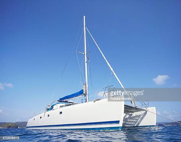 Catamaran on the ocean