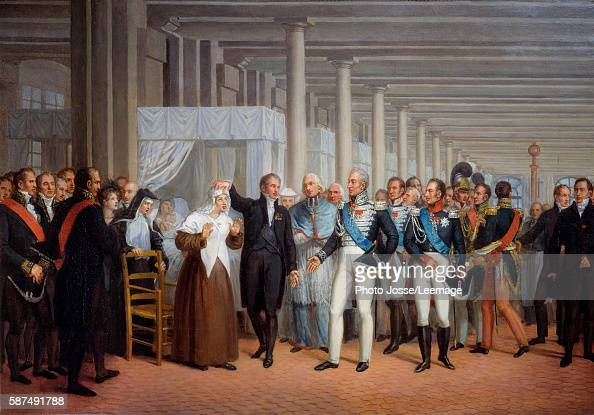 Cataract Operation Performed by Guillaume Dupuytren in the Presence of King Charles X at the Hotel Dieu Painting of the French School 19th century...