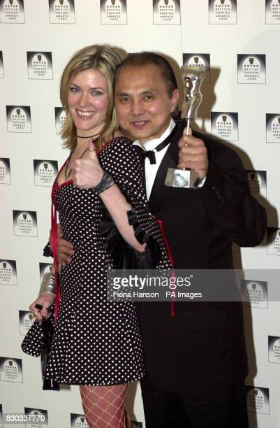 Catatonia singer Cerys Matthews and winner of Best British Accesory designer Jimmy Choo at the Rover British Fashion Awards 2000 held at the Natural...