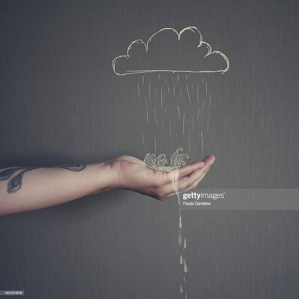 Catch every single droplet : Stock Photo