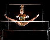 Catch it girl! Gymnast in flight