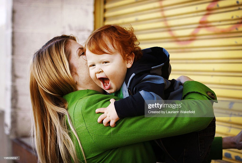 Catch me mommy : Stock Photo