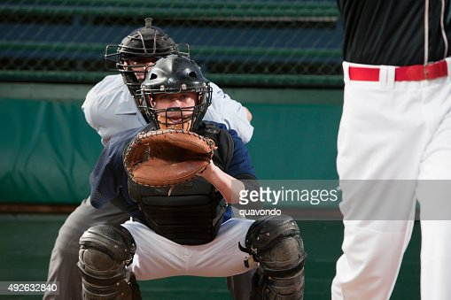 Catcher Behind Home Base