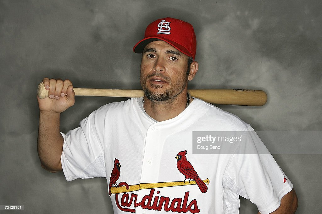Catcher Eli Marrero of the St Louis Cardinals poses during Photo Day on February 26 2007 at the Roger Dean Stadium in Jupiter Florida