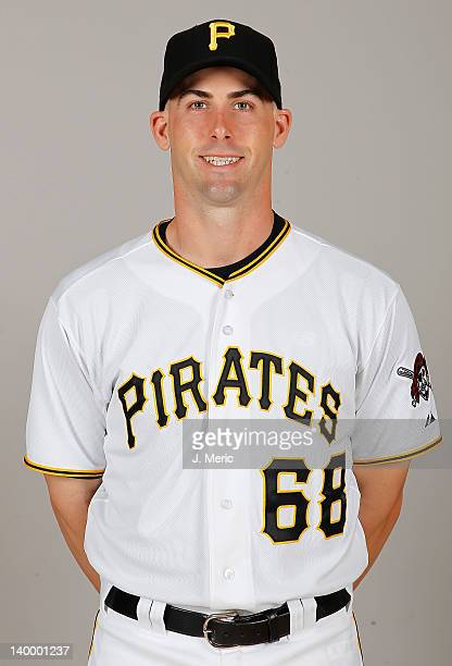 Catcher Eric Fryer of the Pittsburgh Pirates poses for a photo during photo day at Pirate City on February 26 2012 in Bradenton Florida